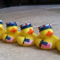Fourth of July Ducks