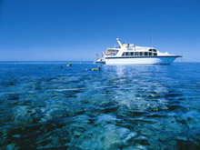 Dive Boat on the Great Barrier Reef - Image Courtesy of Tourism Queensland
