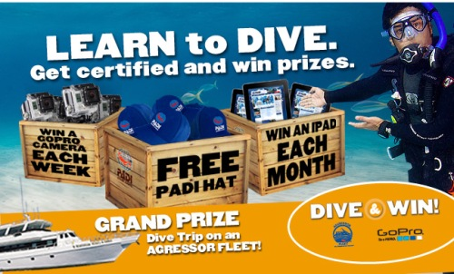 PADI Dive and Win contest 2013