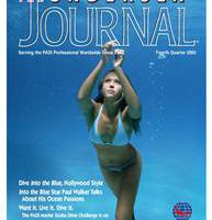 Undersea Journal Cover Featuring Into the Blue