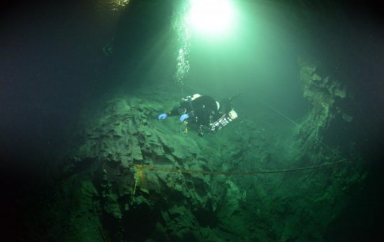 Cave diving - Chris Haslam