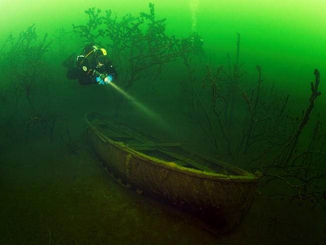 Yantarny Pit diving Russia