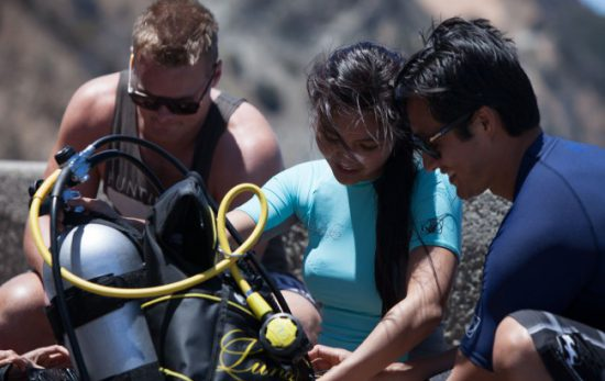 Divers with Equipment