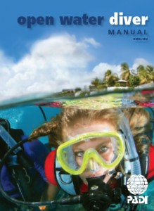 Niccole Sherman PADI Open Water manual cover