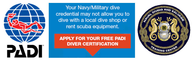 PADI Navy COOL certification