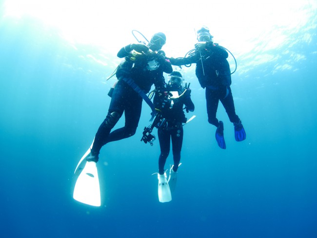 three-divers