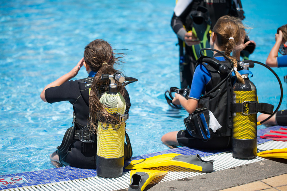 Scuba diving children