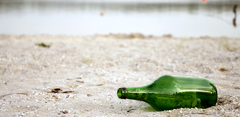 Recycling - Bottle on Beach