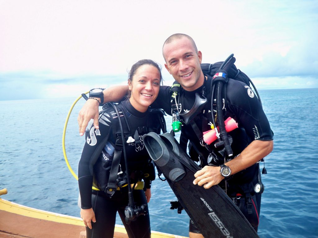 Frederica and Stefano My PADI Pro 2nd prize winners
