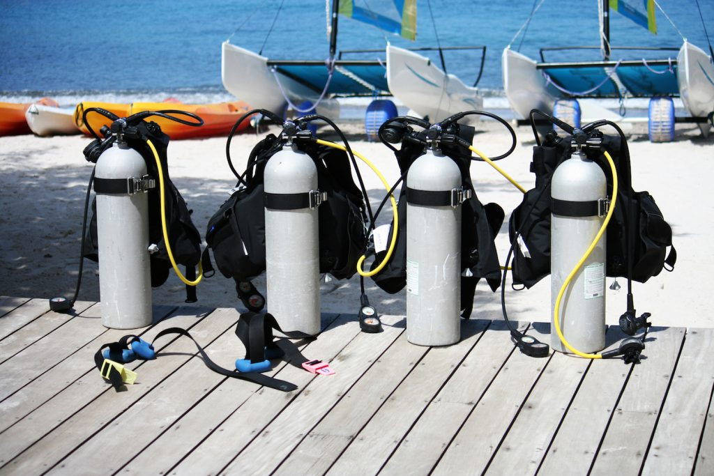 Scuba tanks for cylinders from shutterstock