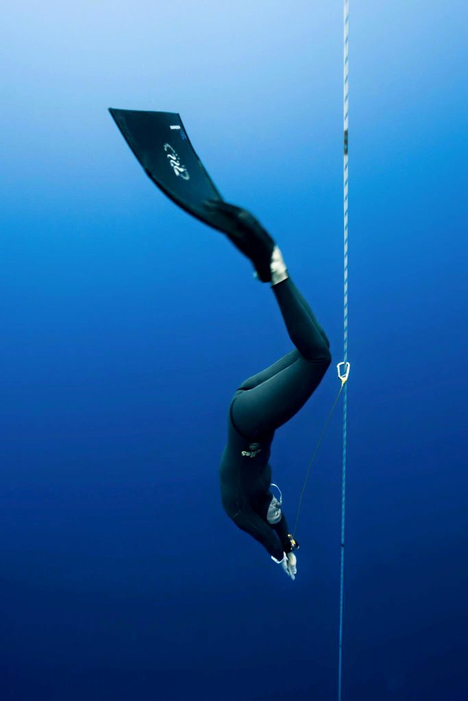 Freediver Mandy Sumner Photo: Mike Hong