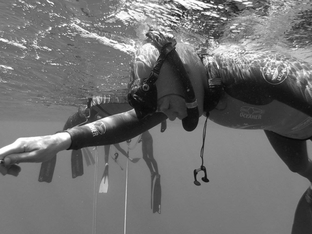 Freediver Mandy Sumner Photo: Pim Vermeulen