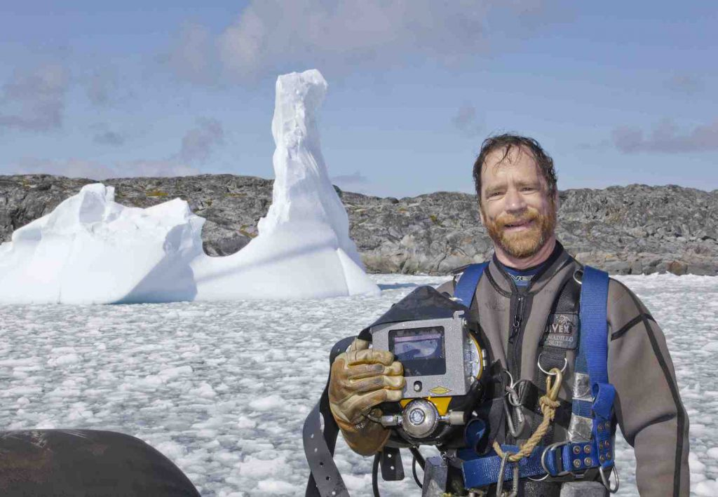 Antarctic Diver Rob Robbins photo by Jack Baldelli