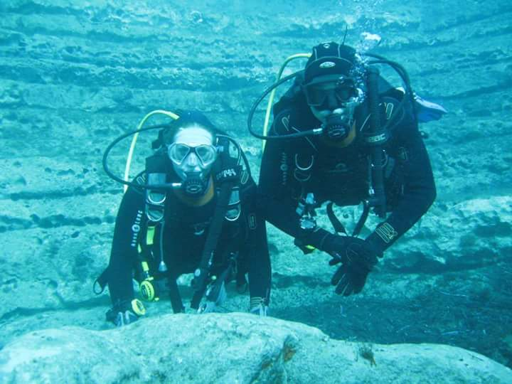 Lowri and Oli Rescue Diver Course
