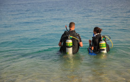 Becoming PADI Master Scuba Divers - Enriched Air Diver