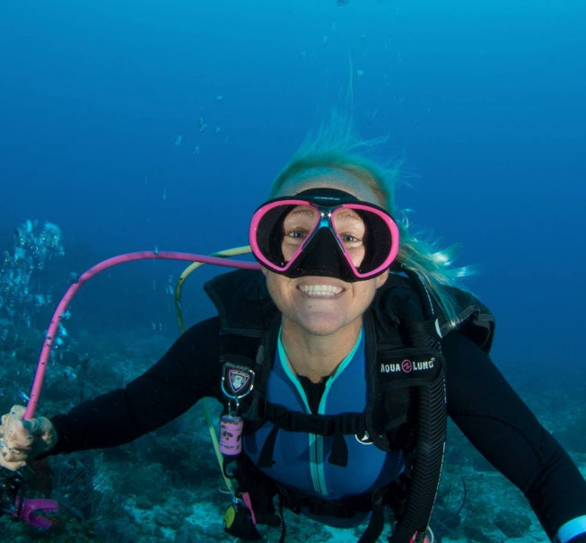 Jo Mikutowicz, owner of Divetech dive center on Grand Cayman.