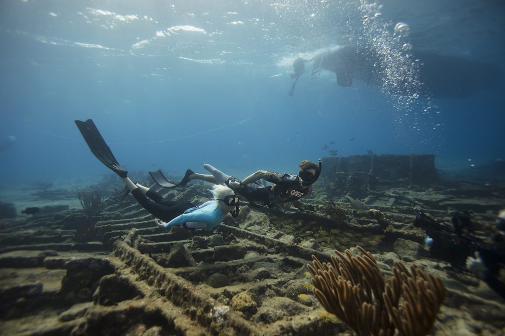 Freediving Mike Coots Jillian Morris Bahamas