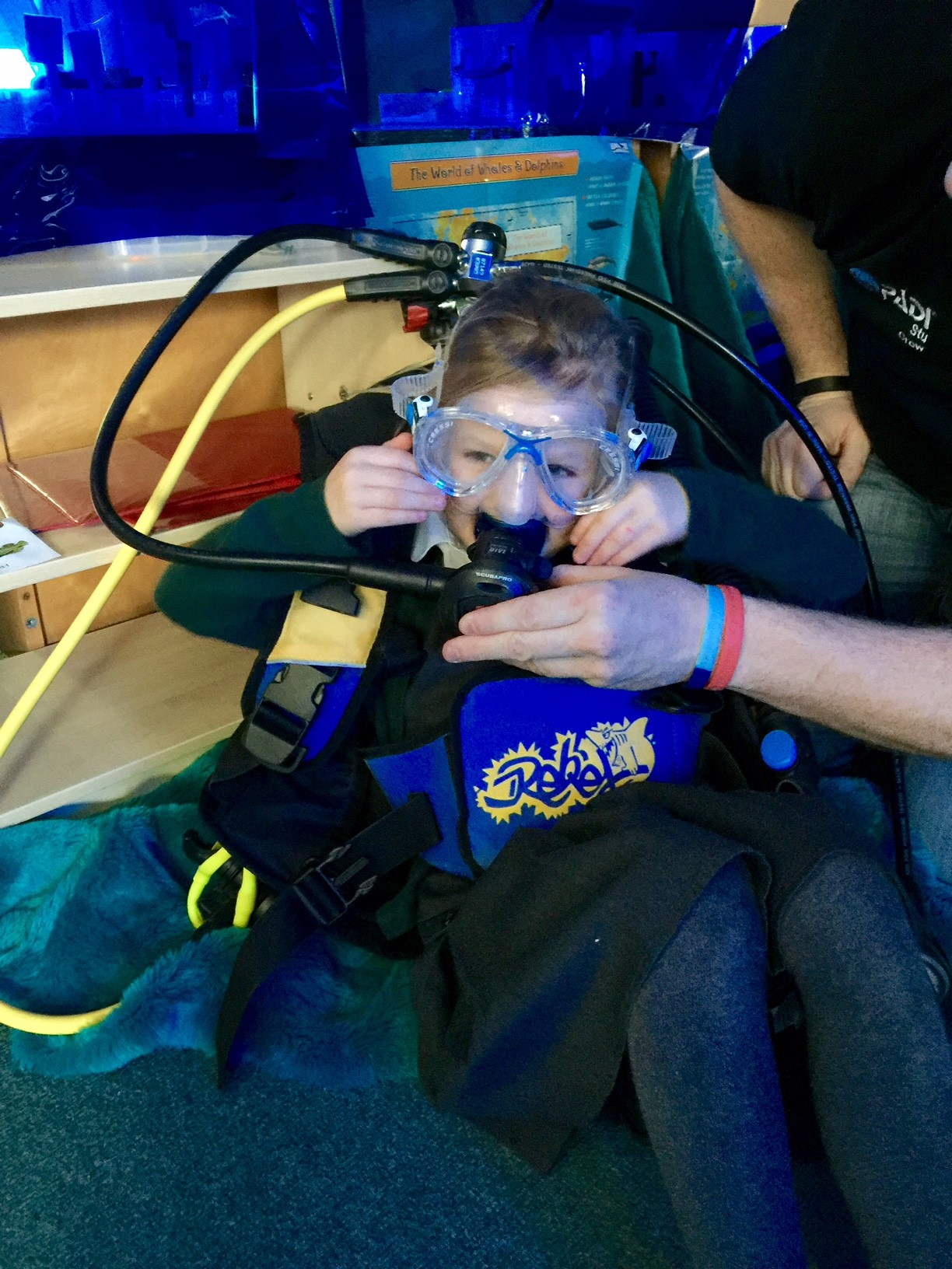 Introducing scuba equipment at infants school