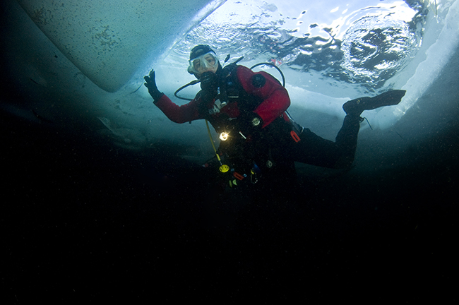 PADI Specialty Diver courses Ice and Dry suit
