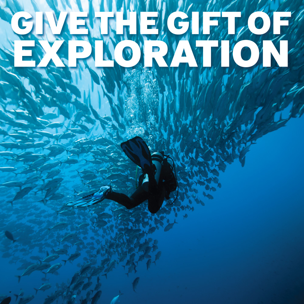 padi give the gift of exploration