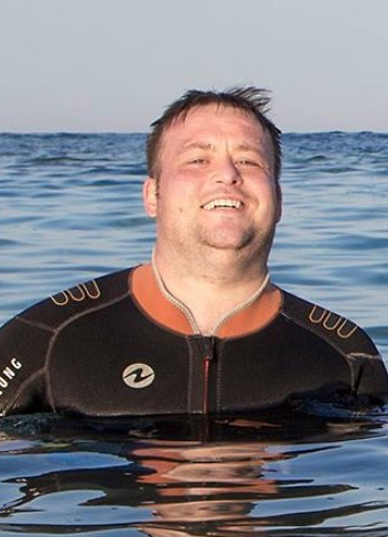 Michael in the sea