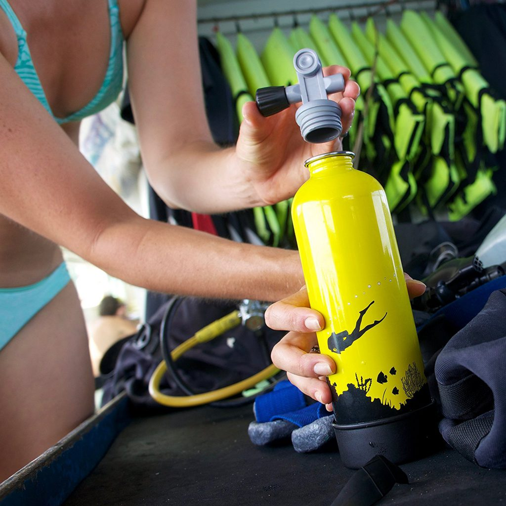 scuba tank water bottle