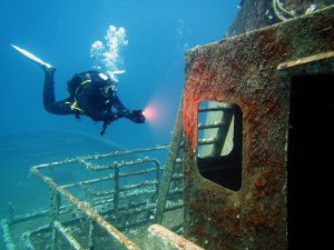 Wreck diving adventures in Malta