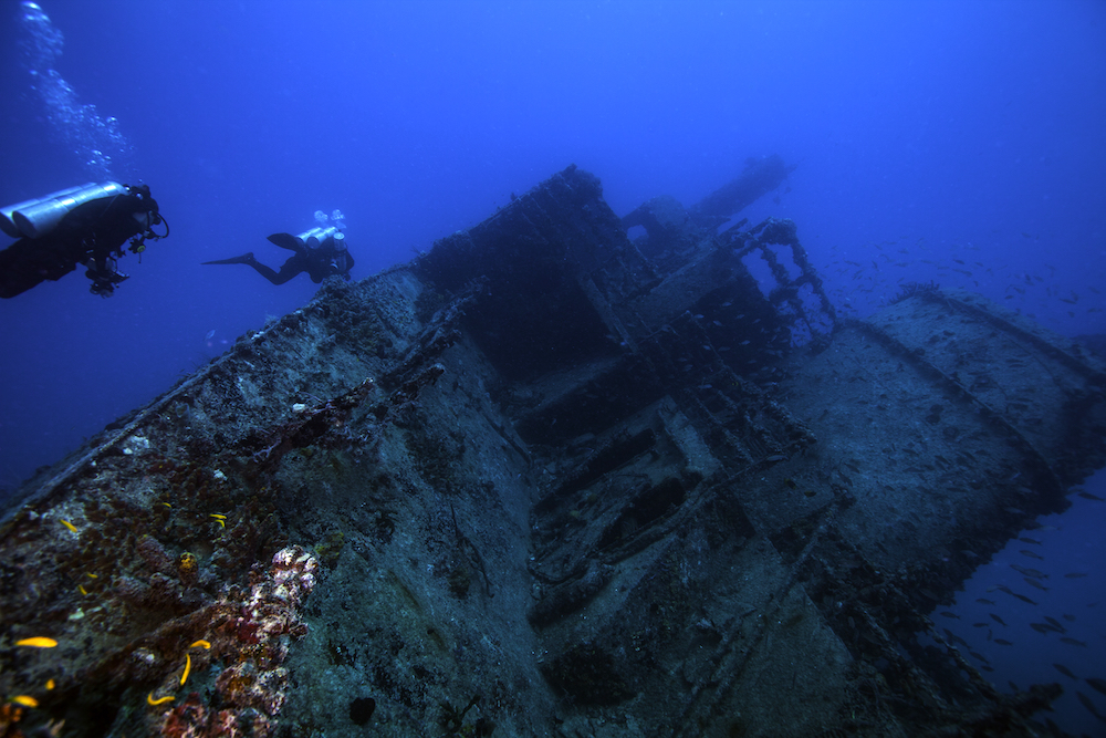 Shutterstock -The Eagle Wreck in Florida. Photo: