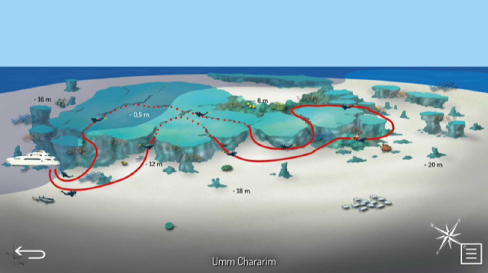 Dive Map - Umm Chararim