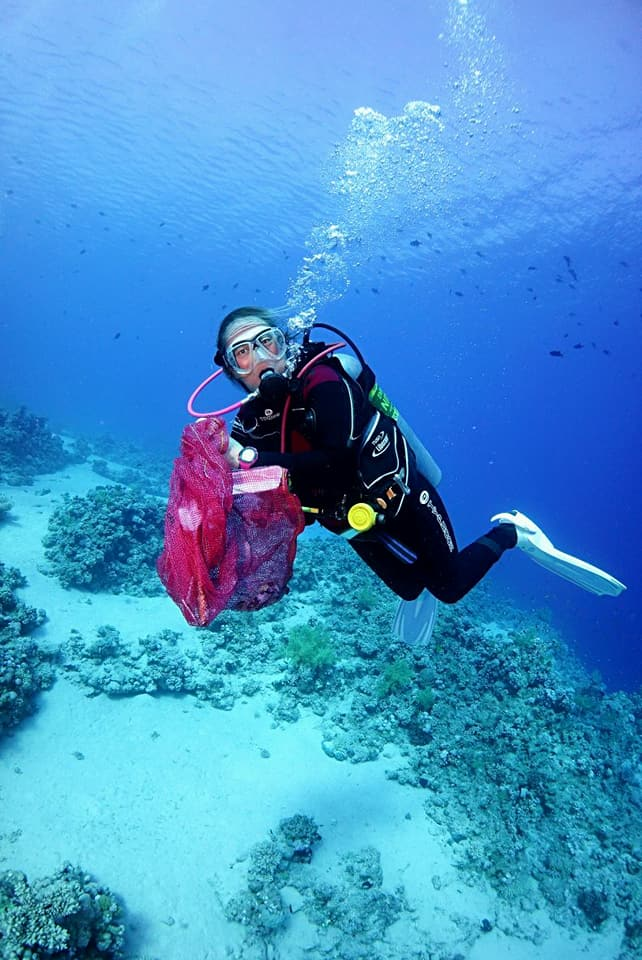 Beth diving in Egypt