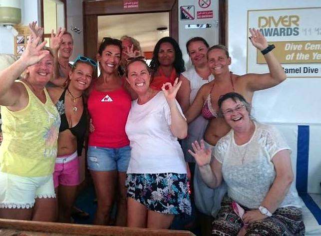 Ladies at Camel Dive Club