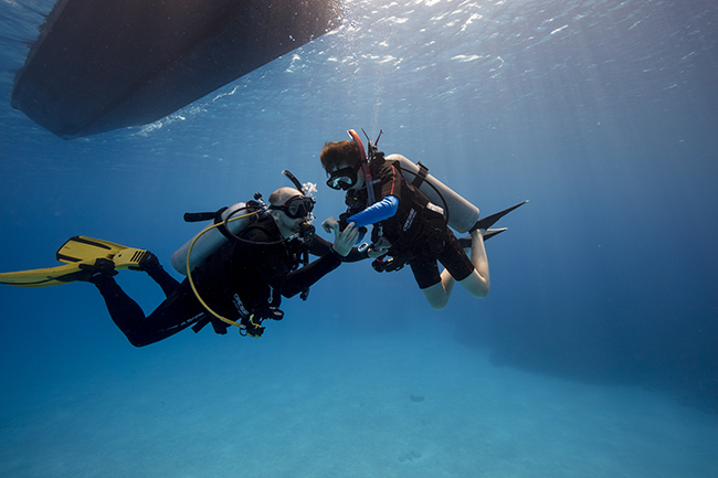 PADI training psychology in Scuba Diving