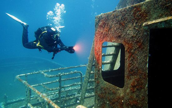 Florine Wreck diving adventures in Malta