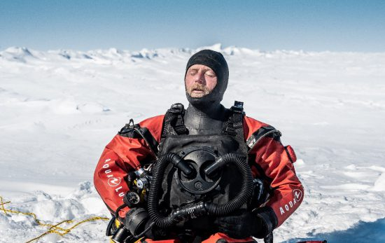 Alban Michon, Ice diving explorer