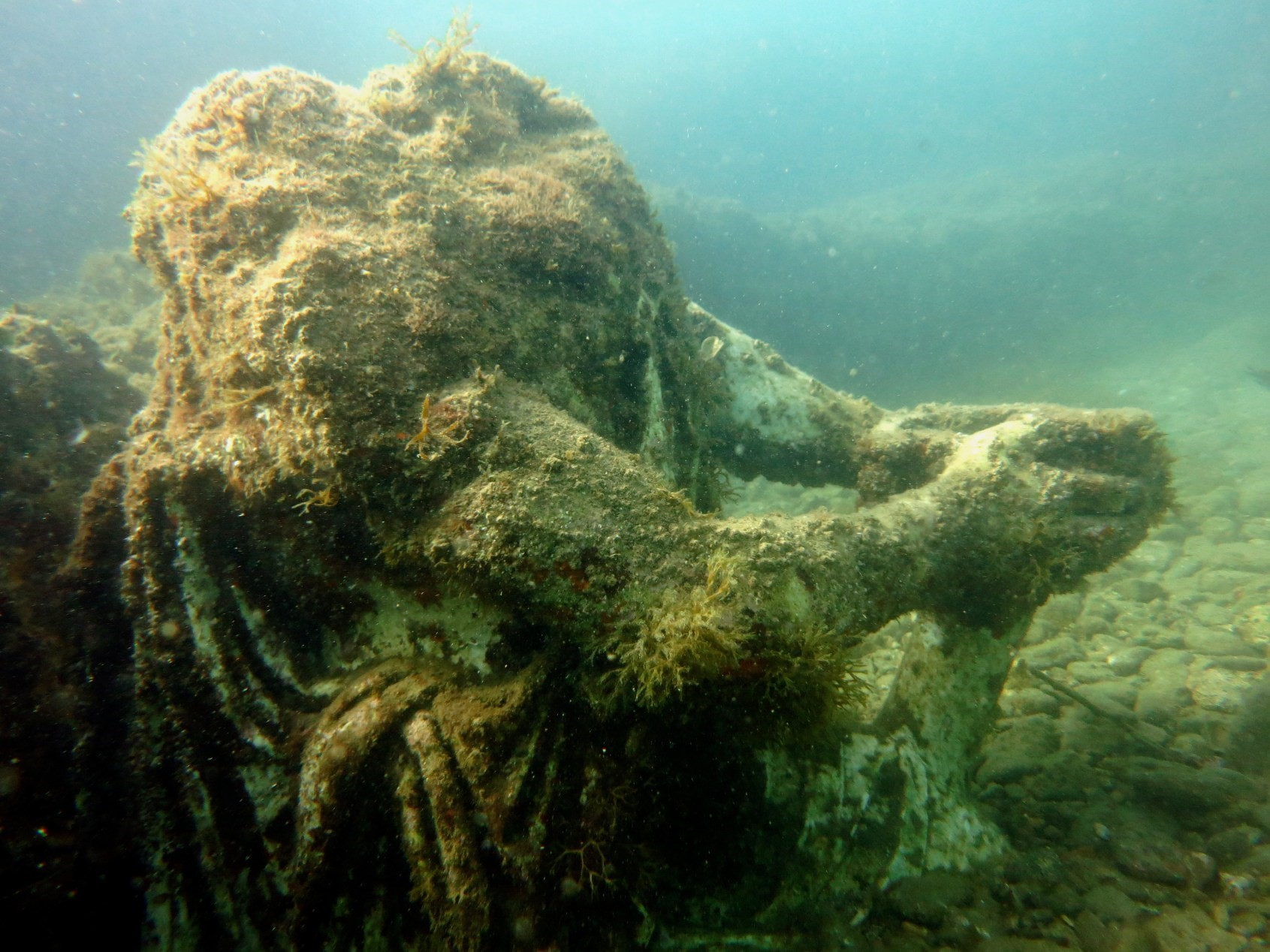 Headless Statue in the Underwater Archaeological Park of Baia