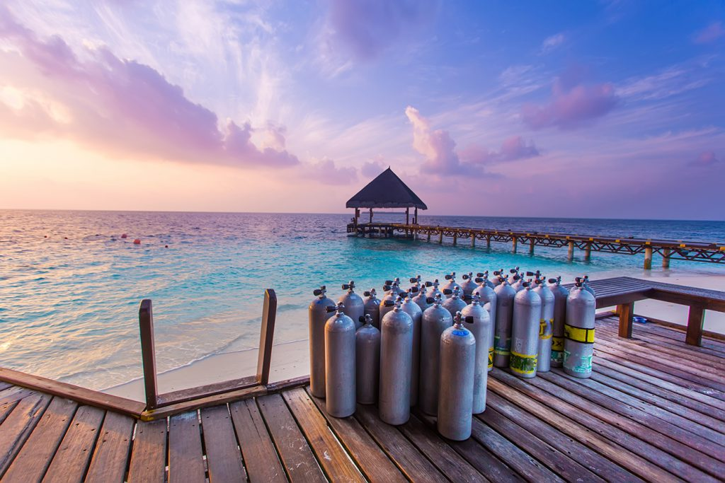 Ease of learning to dive in the Maldives